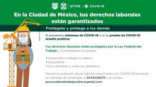 Garantiza STyFE derechos laborales durante la emergencia sanitaria